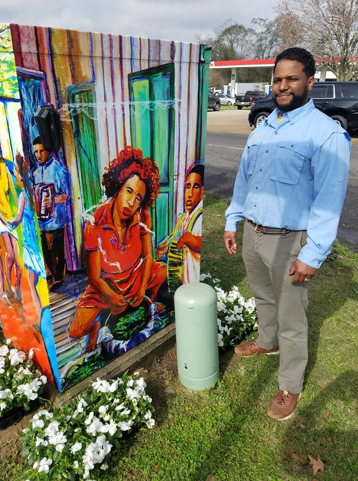 Boxed Art Unveiling featuring artwork by Local artist Jerome Ford