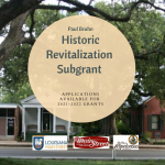 Louisiana Main Street Historic Revitalization Grant Application is Open